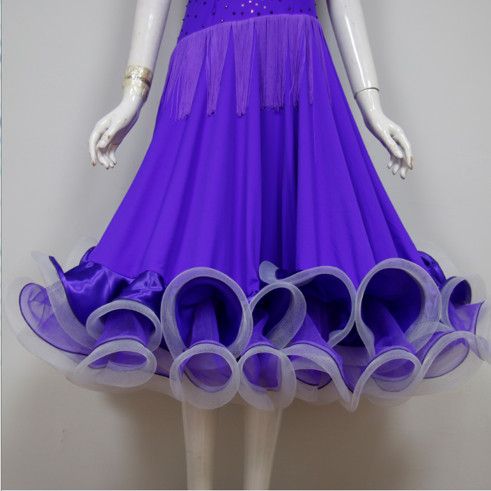 Purple Ballroom Dance Dresses for Sale