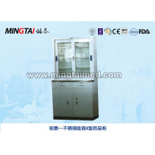 Stainless steel surface medicine cabinet