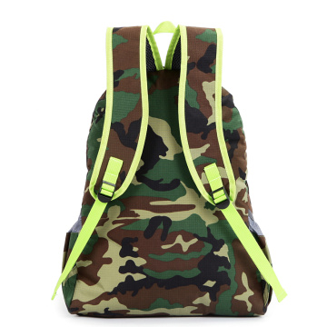 Foldable nylon camouflage travel mountaineering backpack