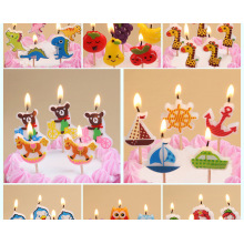 paraffin wax cartoon birthday candle for children