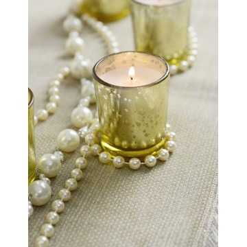 Gold Mercury Glass Holders glass jar candles