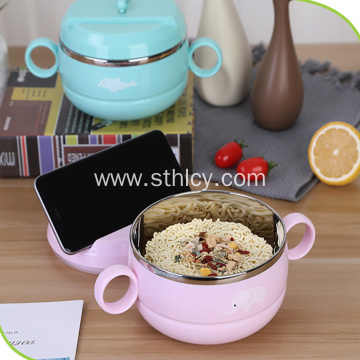 Cartoon 304 Stainless Steel Instant Noodle Bowl