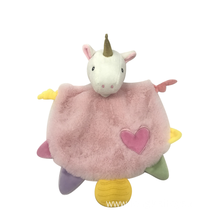 Pink Unicorn Towel Baby Toys