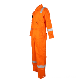 workwear orange flame resistant safety coveralls