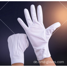 White Parade Handschuhe Funeral Cotton