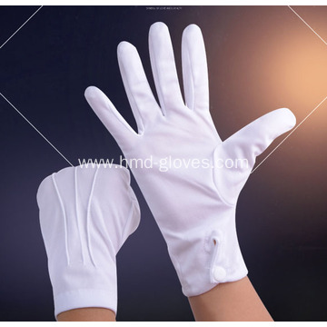 White Cotton Snap Gloves