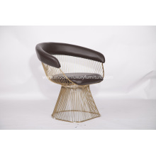 Leather Warren Platner Armchair