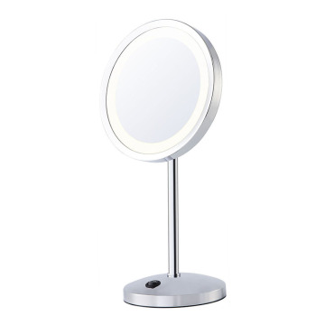 Battery power makeup mirror with lights