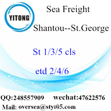 Shantou Port LCL Consolidation To St.George