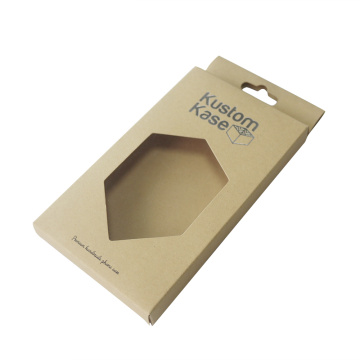 Kraft paper with pvc window cell phone box
