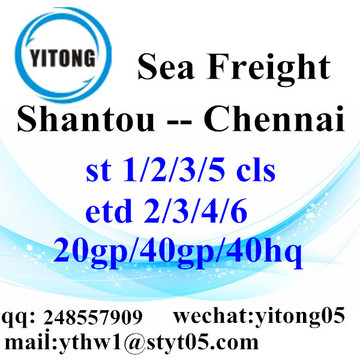 Shantou Sea Freight Shipping Agent to Chennai