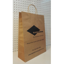 Good Quality for Natural Brown Kraft Paper Bag Custom Printed Reusable Shopping Bags export to French Guiana Supplier