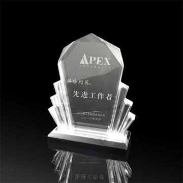 Clear acrylic fanshaped recognition awards