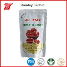 Factory Price for Double Concentrated Tomato Paste 70g standup sachet tomato paste 22-24% for yemen supply to Italy Factories