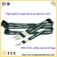 High quality silk-screen lanyard with metal hook