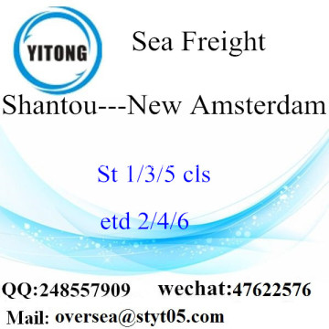 Shantou Port LCL Consolidation To New Amsterdam