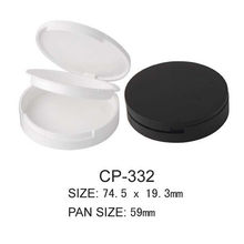 Round Cosmetic Powder Case