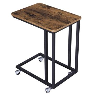 Cheap MDF Metal Antique Wood Side Table Modern