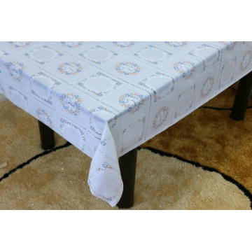 Printed pvc lace tablecloth with felt backing