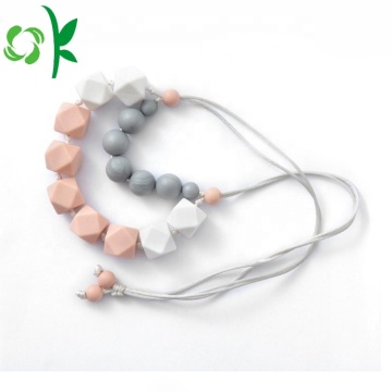 Toddler Silicone Teething Necklace Baby Necklace Beads