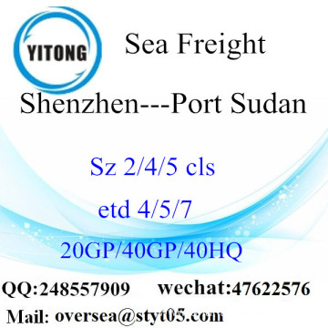 Shenzhen Port Sea Freight Shipping To Port Sudan