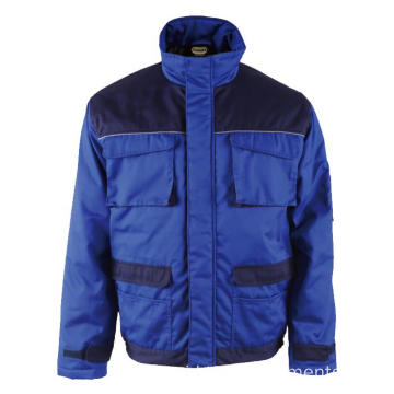 65% polyester 35% katun Royal Blue Winter Jacket