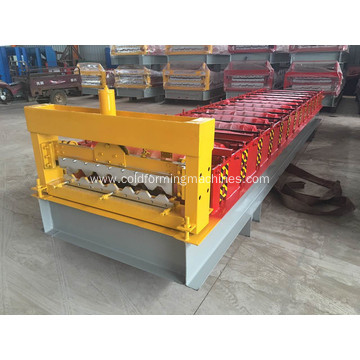 Roof and wall panel tile roll forming machine