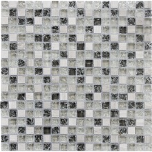 Cracked glass mix marble mosaic tile