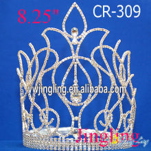 "8"" Custom big flower pageant crowns"