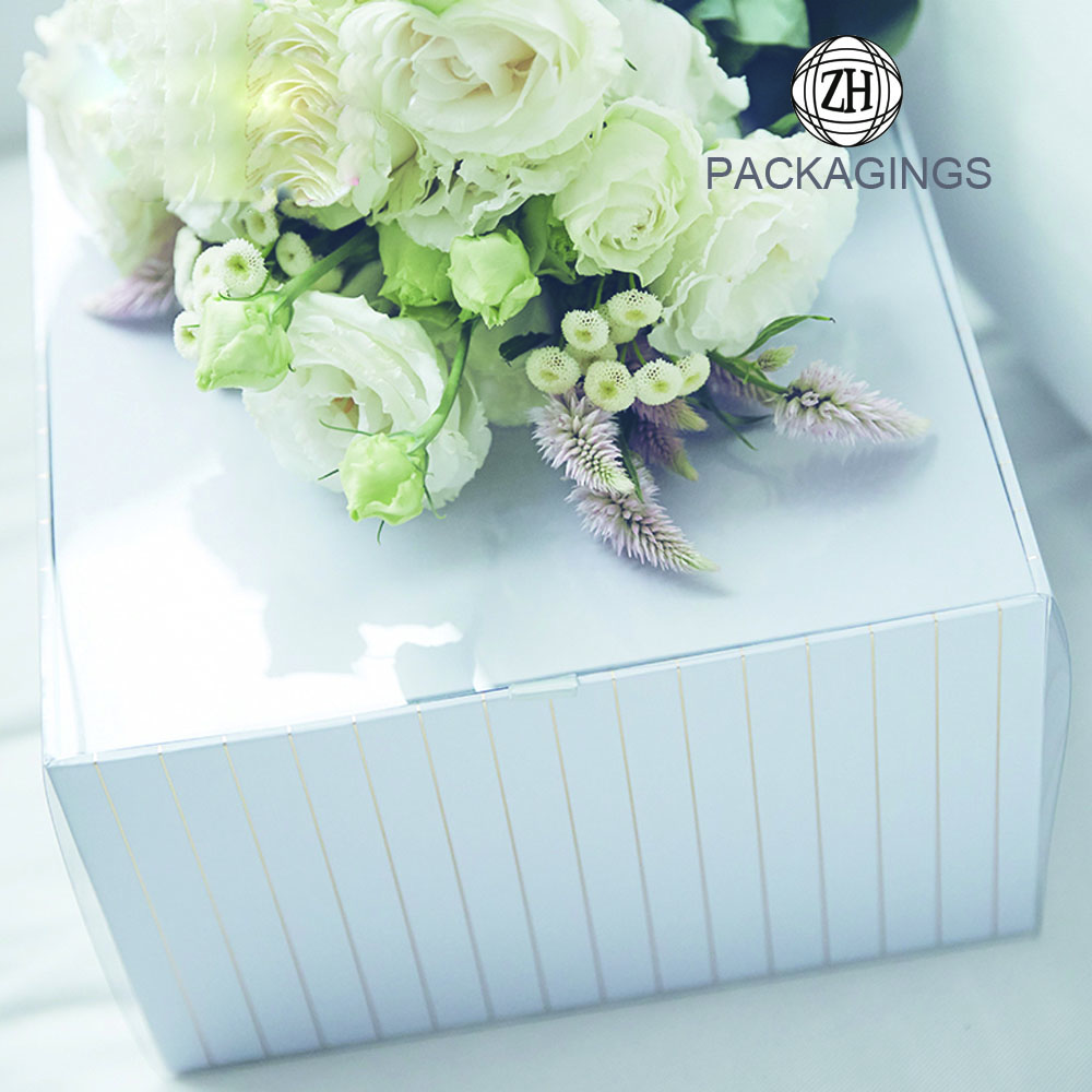 New gold stamping hat flower packaging box