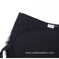 Sheepskin half saddle pad with rubber