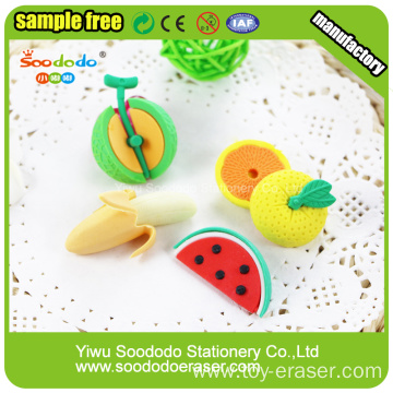 3D Food Shaped Blister Card Packing Eraser