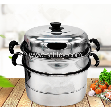 Stainless Steel Multilayer Steamer Pot Single Bottom