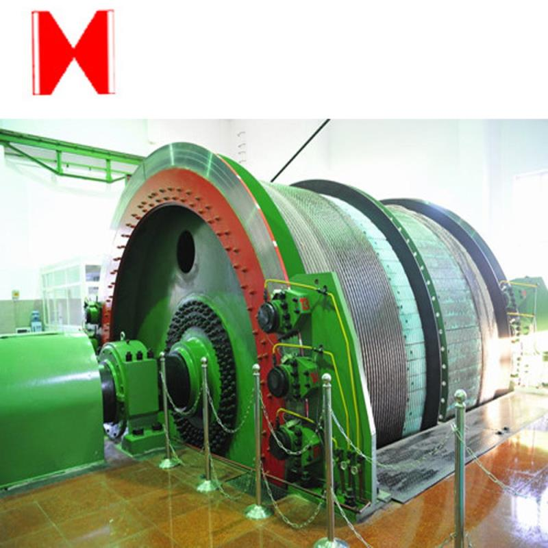 single-rope mine drum hoist
