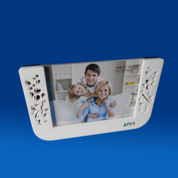 Self Standing White Plastic Picture Frames Insert