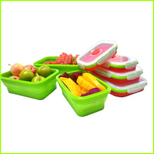 OEM manufacturer custom for Rectangular Collapsible Bento Lunch Box Set,Silicone Folding Lunch Box Disposable Silicone Lunch Box For Kids supply to Morocco Factory