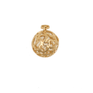 Sphere Pendant with Heart Shaped Motif