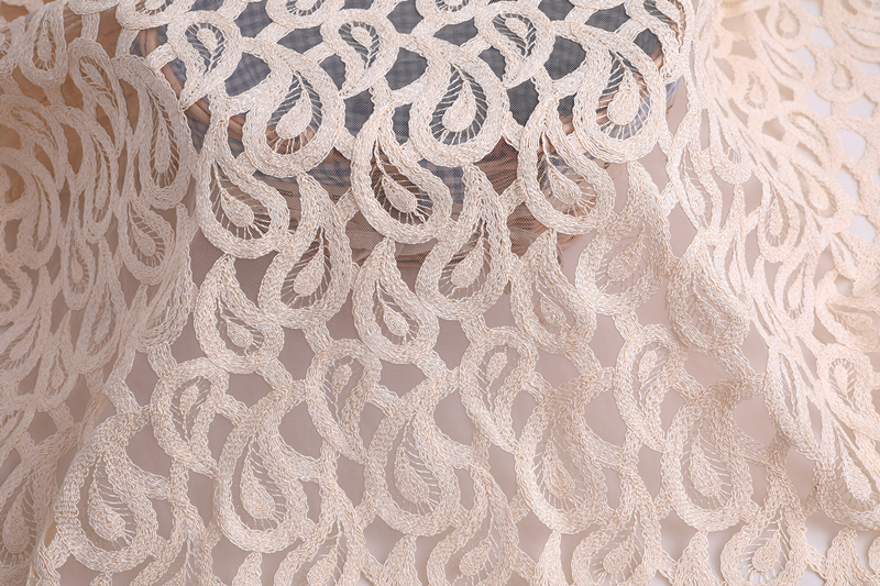 Polyester Cord Embroidery Fabric