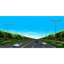 Double Arm Lighting Pole in High Way