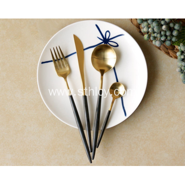 Luxury Gold Stainless Steel Flatware Set Cutlery Sets