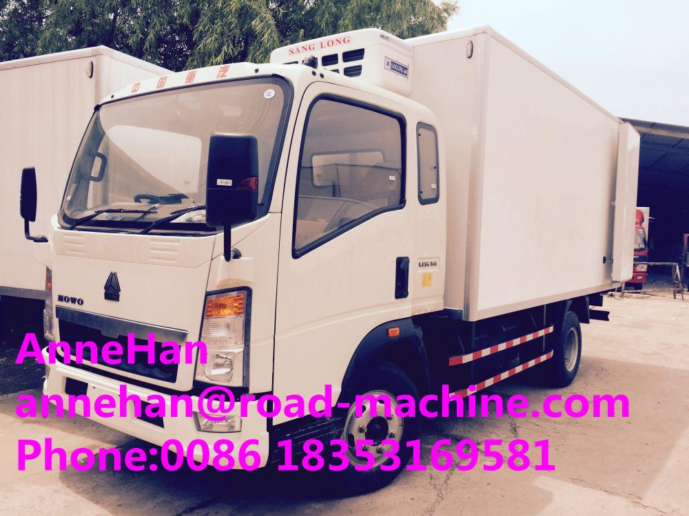 Refrigerated Delivery Truck 4 X 2 8 Tons