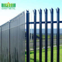 Top for High Quality Palisade steel fence PVC coating steel palisade d section iron fence supply to Spain Manufacturer