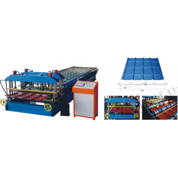 semi automatic cement tile roof making machin coloure glaze roll frorming machine