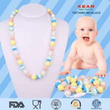 High Quality for Fashion Baby Teething Necklace,Amber Baby Necklace,Baby Chew Teething Necklace Manufacturers and Suppliers in China New design sensory silicone baby teething necklace supply to Spain Manufacturer