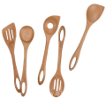 Beech wood cooking utensil set