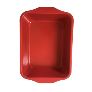 Popular Design for Cake Pan Red Color Baking Roasting Lasagna Pan with Handle supply to Spain Wholesale