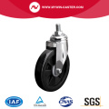 Medium 6 Inch 110Kg Threaded Swivel PU Caster