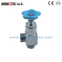 Medical gas manual shut off valve