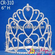 6 Inch Rhinestone Wholesale Pageant Crown CR-310