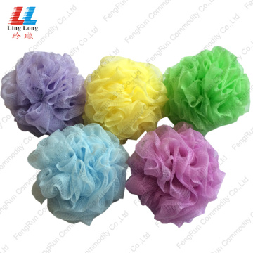 Colorful Bath Sponge shower scrub mesh body exfoliator